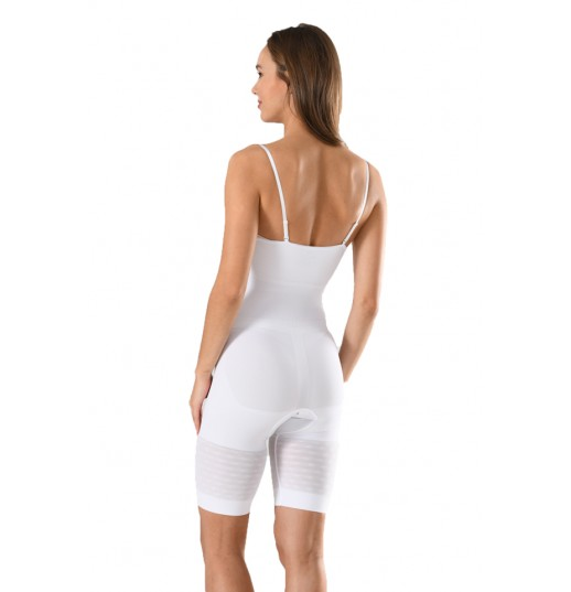 Body modelator dama cu pantalon Serena, culoare alb, model 1255