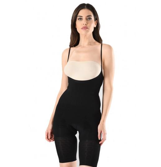 Body modelator dama cu pantalon Serena, culoare negru, model 1255